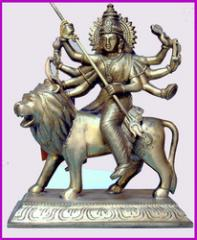 Durga Sitting Special On Lion Nf