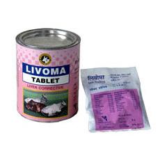 Liver corrective tablet for animal