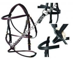 YESRD Leather Mexican Grackle Bridle With Reins