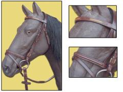 YESRD Leather Horse Dressage Bridle with Leather