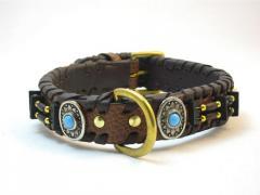 YESRD Crocodile Briaded Fashion leather dog Collar