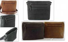 Oil Washed Hunter Leather Unisex Bags