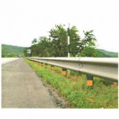 Single sided crash barrier