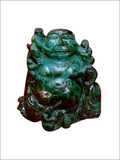 Malachite Laughing Buddha