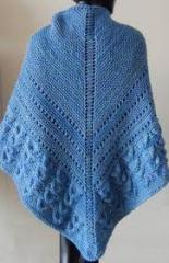 Spring day knitted shawl