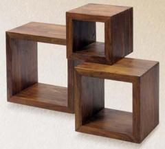 Sheesham Wood Cube Shelf