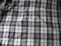 Khadi cotton check fabrics