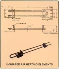 U - Shaped Air Heating Element