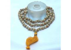 Tulsiwood (Basil Wood) Mala Beads