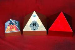Wooden Pyramid Boxes
