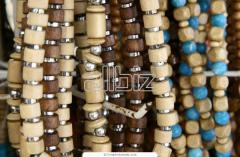 Decorative wooden beads