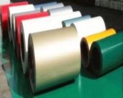 Colored aluminium coil