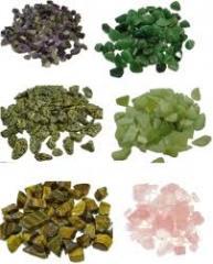 Semi precious rough stones