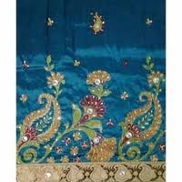 Woven Raw Silk Embroidery George