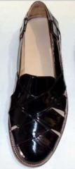 Black Color Leather Sandals