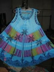 Rayon Crepe tie dye umbrella dress
