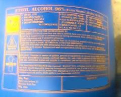 Export Of Ethyl Alcohol