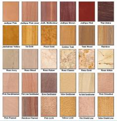 Granite, Marble, Sandstone, Limestone, Basalt