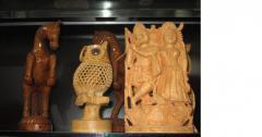 Wooden Krishna