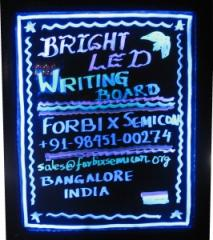 LED Writing Board Multi-color Black Frame