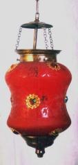 Glass Dholak Shape Lamp