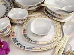 Flower Border Dinner Set