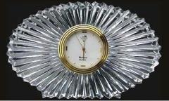 Oval Shape Crystal Clock