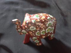 Wooden Paper Mache Elephants