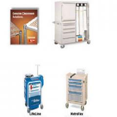 Cleanroom furnitures that includes shelving, carts