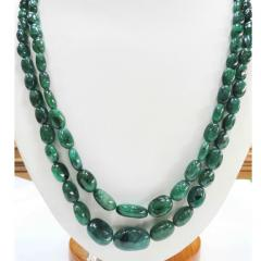 Emerald Tumbler oval necklace ET2(O)009