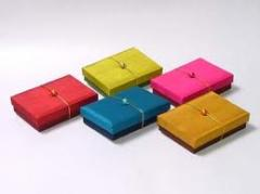 Handmade silk favor box