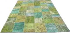 Woolen modern patchwork carpet