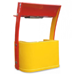 Orange Shaped kiosk