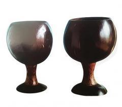 Coconut Shell Wine Glasses