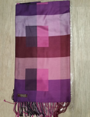 100% Silk check box design - Size: 70x200cm