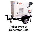 Trailer Type of Generator sets