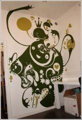Paper wall painting