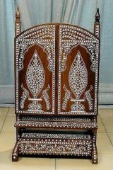 Wooden Inlaid Antique Type Dressing Mirror