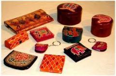 Leather handicrafts goods
