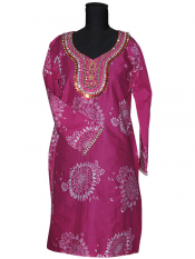 Cotton Kurtis with Hand Embroidery