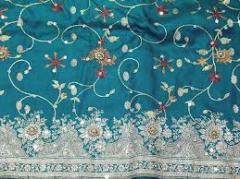 Designer Zari Embroidered Shawl