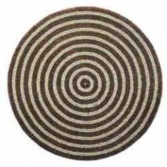 Round Beige Mat