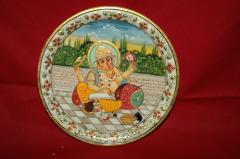 Plates With Golden Paintings