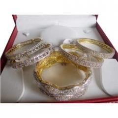 Diamond Beaded Bangles