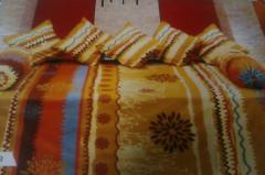 Jaipur Flower Print Bed Sheet With Designer