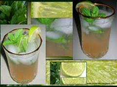 Lime soda water