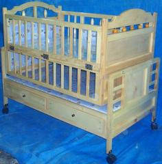 Cradle / Cot / Play Pan with 2 Drawers, Model no