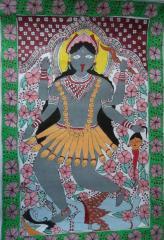 Mithila Painting on cardboard