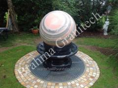 Stone fountains,Granite spheres, marble balls,