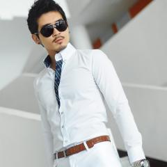 100% cotton men long sleeves white formal shirt